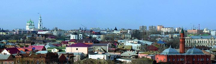 Фотография: панорама Астрахани