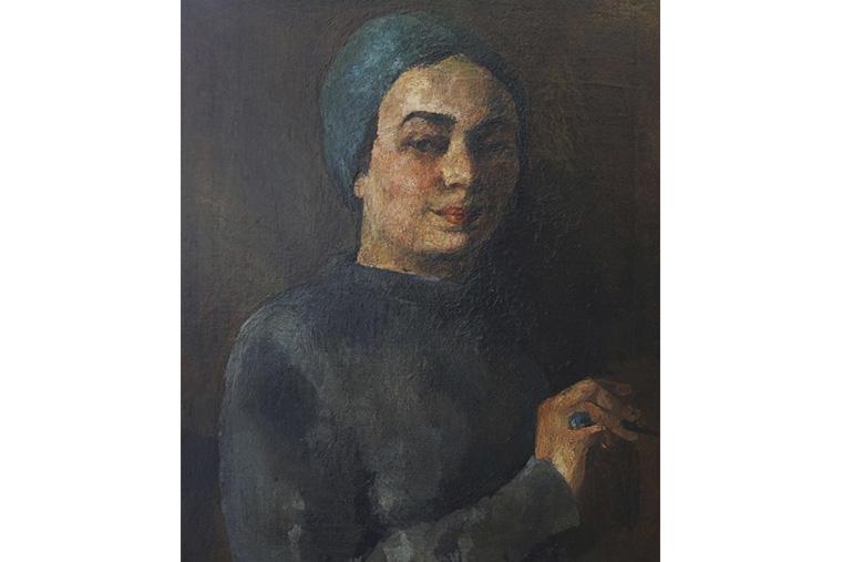 Раиса Идельсон. Автопортрет с изумрудом