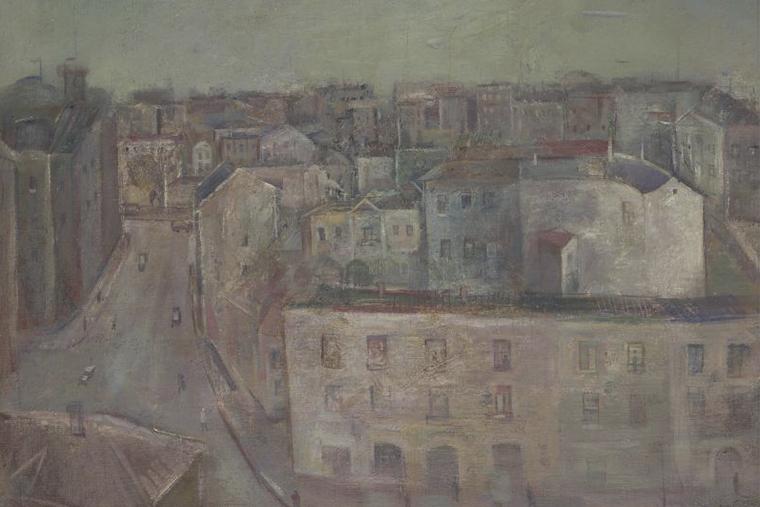 Александр Лабас. Вид на Мясницкую. 1930 г.