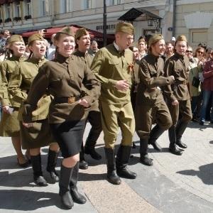 День Победы 2015 в Москве Никитский бульвар