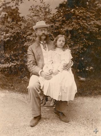 Эмиль Еллинек с дочерью Мерседес