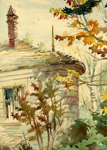Eclectic Sokolov watercolor My House