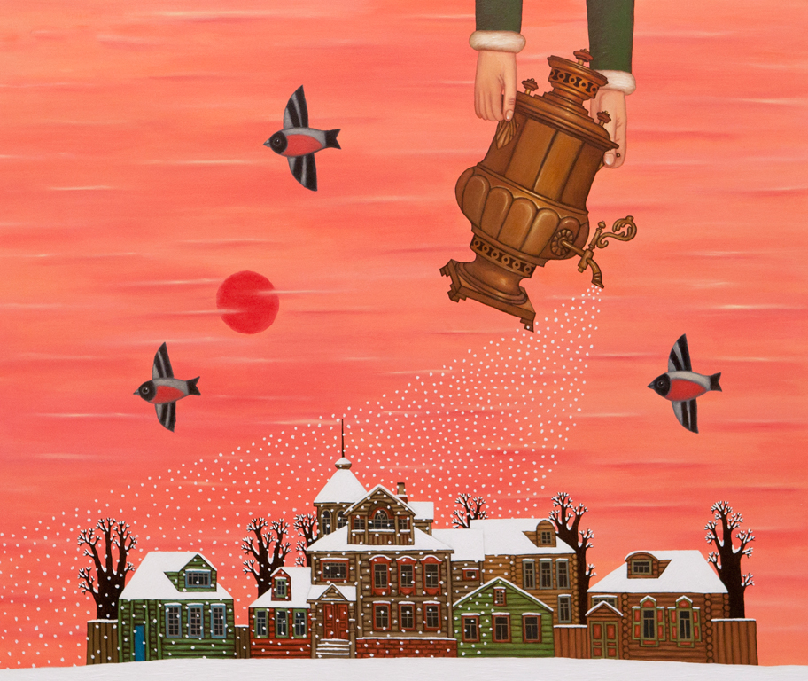 Картина «Водолей», из цикла «Знаки»