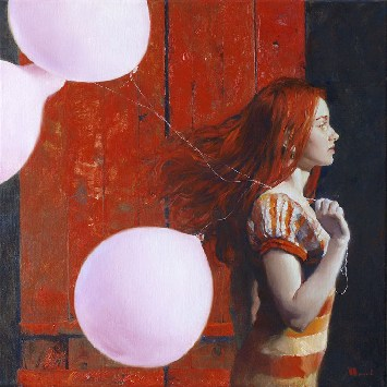 Евгений Монахов «Девушка с воздушными шарами»