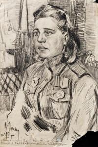 Фронтовой рисунок ГИМ  Лидия Козлова