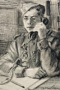 Фронтовой рисунок ГИМ Младший сержант Голумбецкий