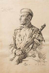Фронтовой рисунок ГИМ  Петр Черницын
