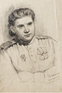 Фронтовой рисунок Лидия Игнатьева in