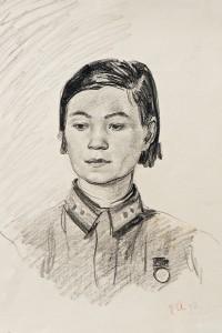 Фронтовой рисунок Нина Ваньюн in
