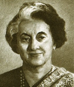 USSR - 1984 : shows Indira Gandhi (1917-1984), Indian Prime Mini