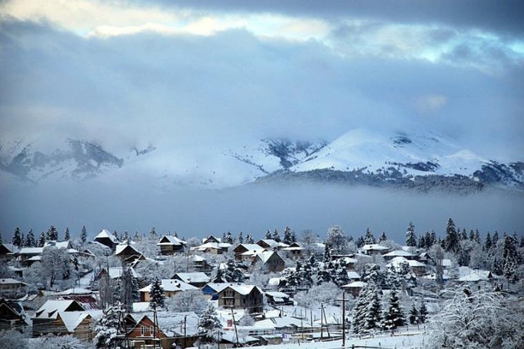 Грузия зимний туризм in