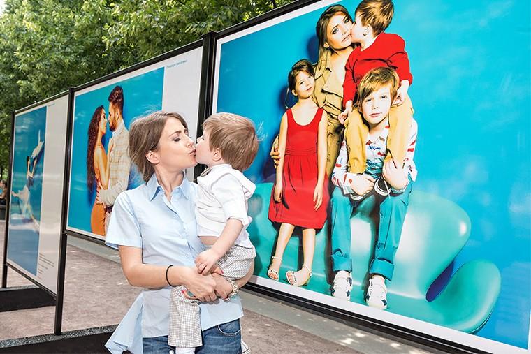 Юлия Барановская с сыном