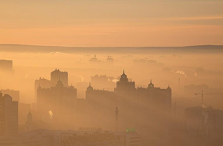 Природные зрелища_рассвет в городе1
