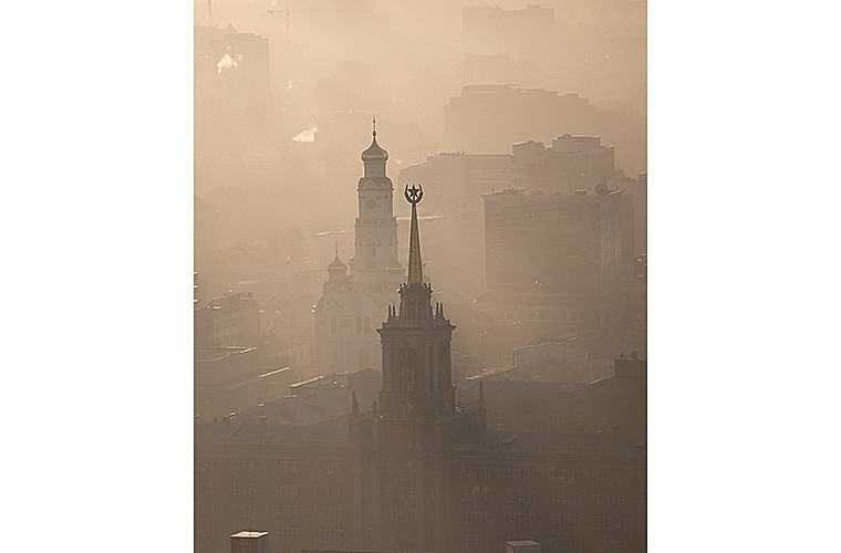Природные зрелища_рассвет в городе2