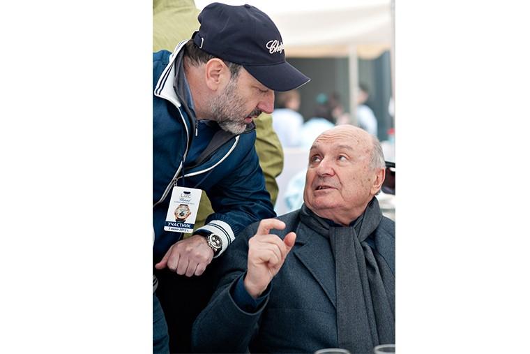 С Михаилом Жванецким на Rally Chopard Classic