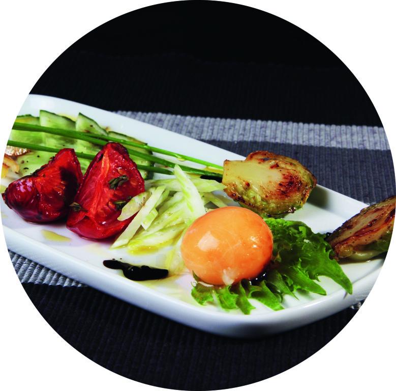 Салат с замороженным яйцом