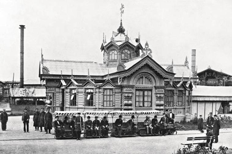 Трамвай на Московской выставке, 1882 г.
