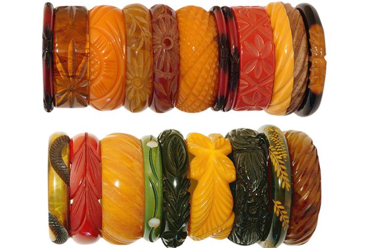 Винтажные украшения из пластика бакелит in