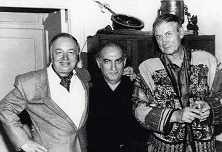 Андрей Вознесенский, Соломон Волков, Евгений Евтушенко. Нью-Йорк.