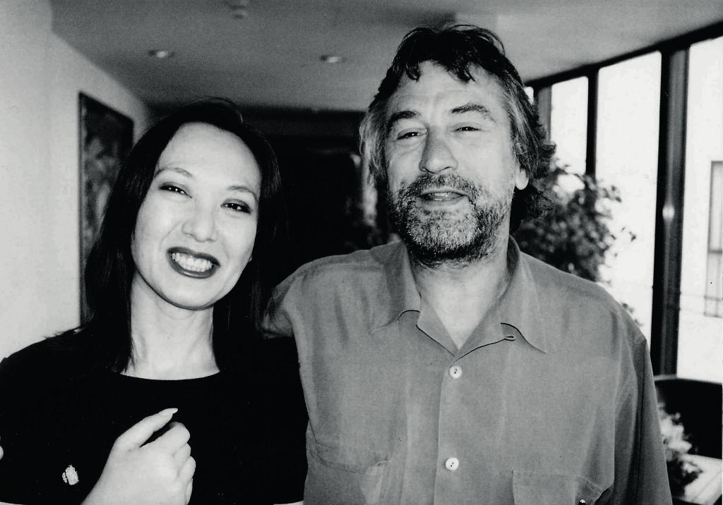 Елена Хван с Робертом Де Ниро на Московском кинофестивале, 1997 год. Фото  Игоря Мальцева.