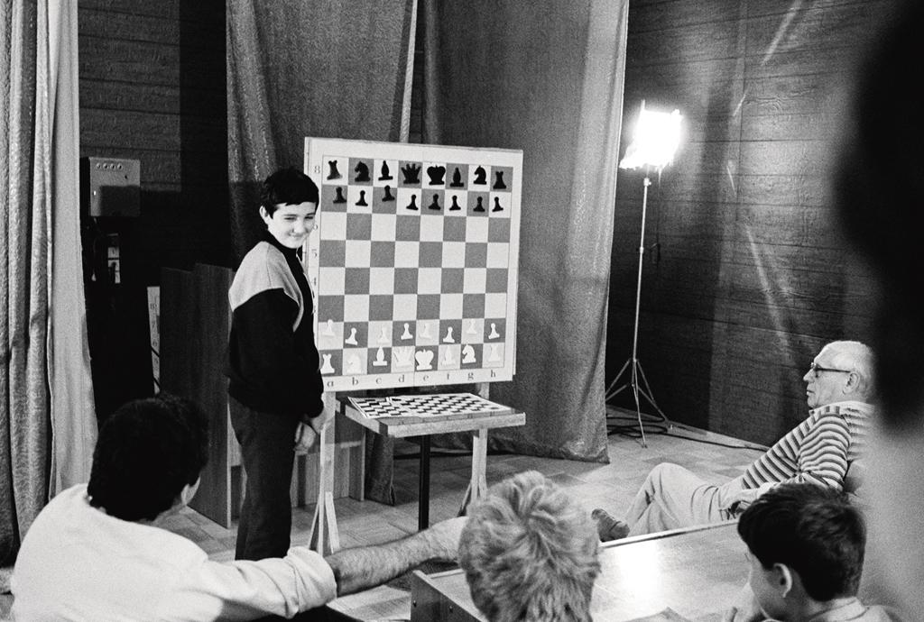 Владимир Крамник на летней сессии школы М.Ботвинника-Г.Каспарова