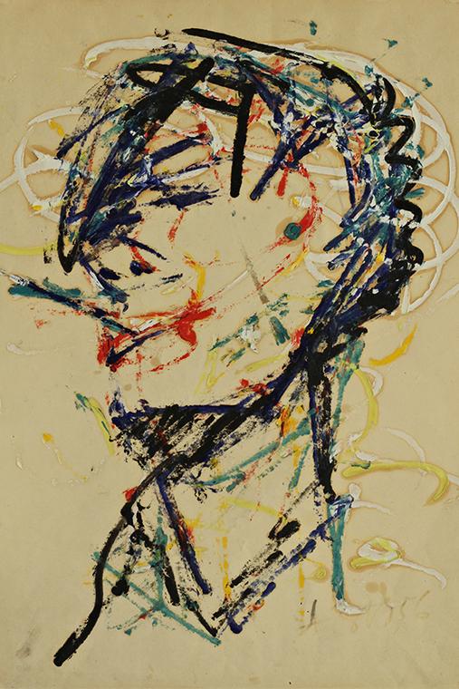 А. Зверев. Автопортрет с сигаретой. 1956