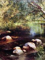 А. Шильдер. «Речка в лесу». 1891
