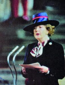 ABKHAZIA - CIRCA 2000 : Stamp printed in Abkhazia shows portrait Margaret Hilda Thatcher, Iron Lady, circa 2000
